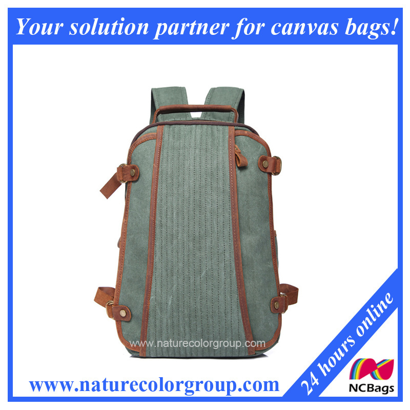 New Fashion Canvas Travel School Duffle Backpack Bag