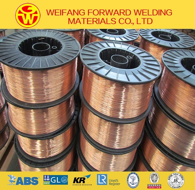 Welding Product 1.0mm 15kg/Spool Sg2 Er70s-6 Copper Solid Solder MIG Welding Wire with CO2 Gas Shielding