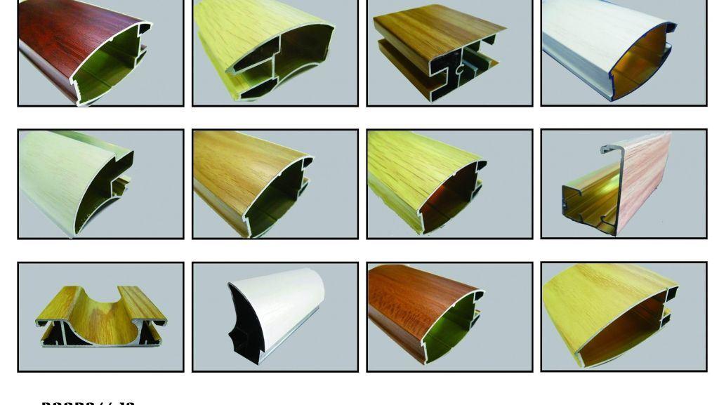 Wooden Grain Aluminium Profiles of Wooden Color Aluminium Profiles