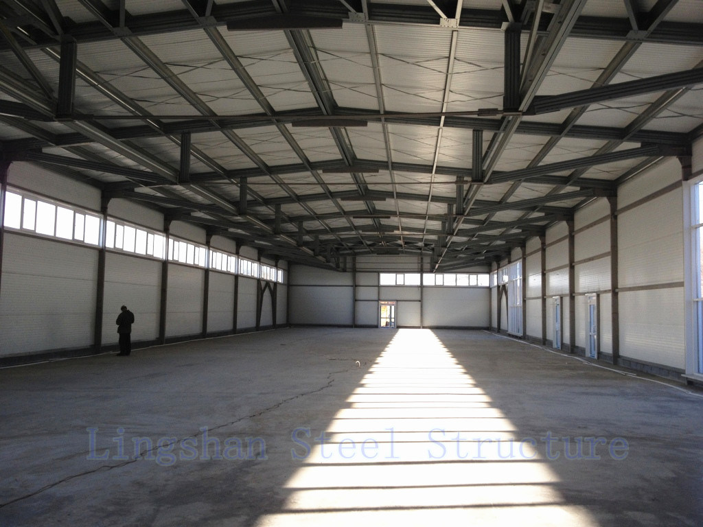 SGS Approved Lingshan Modern Light Steel Structure Workshop (L-S-002)