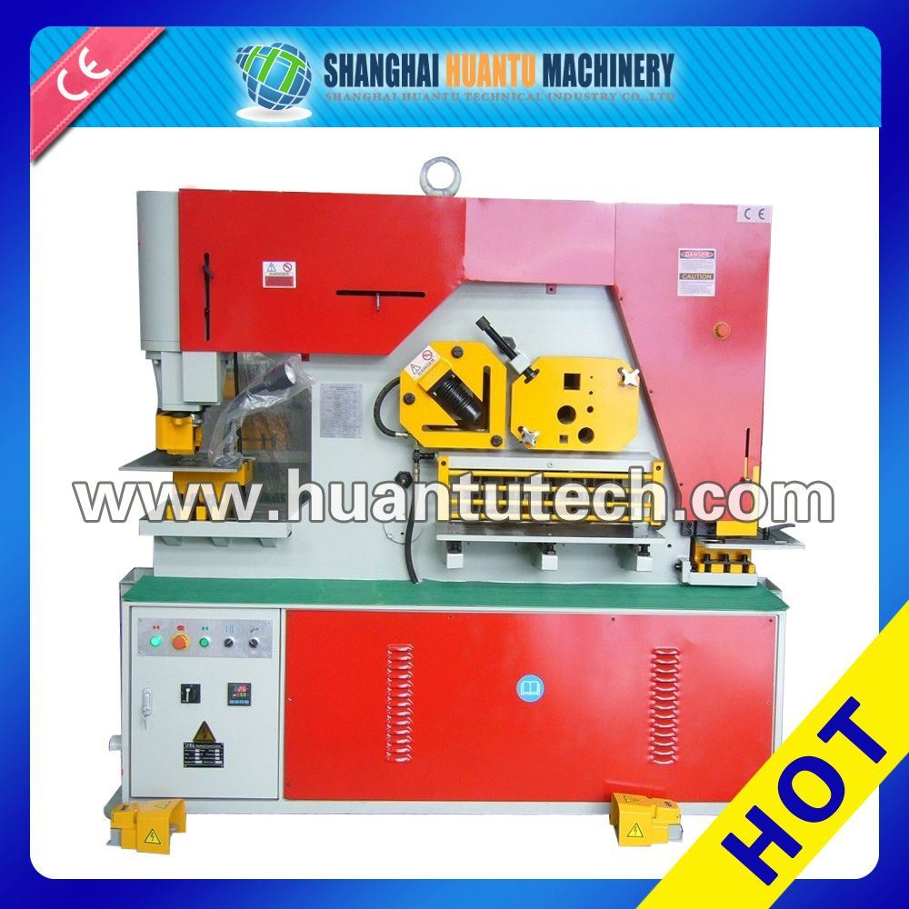 Q35y Series Two Cylinder Combined Punching and Shearing Machine Iron Workers Hydraulic Iron Workers