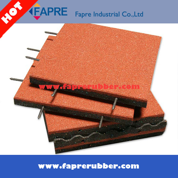 Rubber Floor Tile Interlocking Rubber Tile