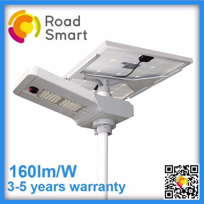 15W-60W All in One Outdoor Solar LED Street Light with Motion Sensor