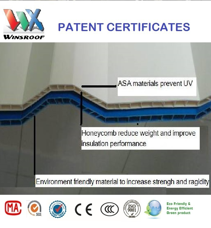 Wins Multiroof Tile-UPVC Hollow Roof Tile