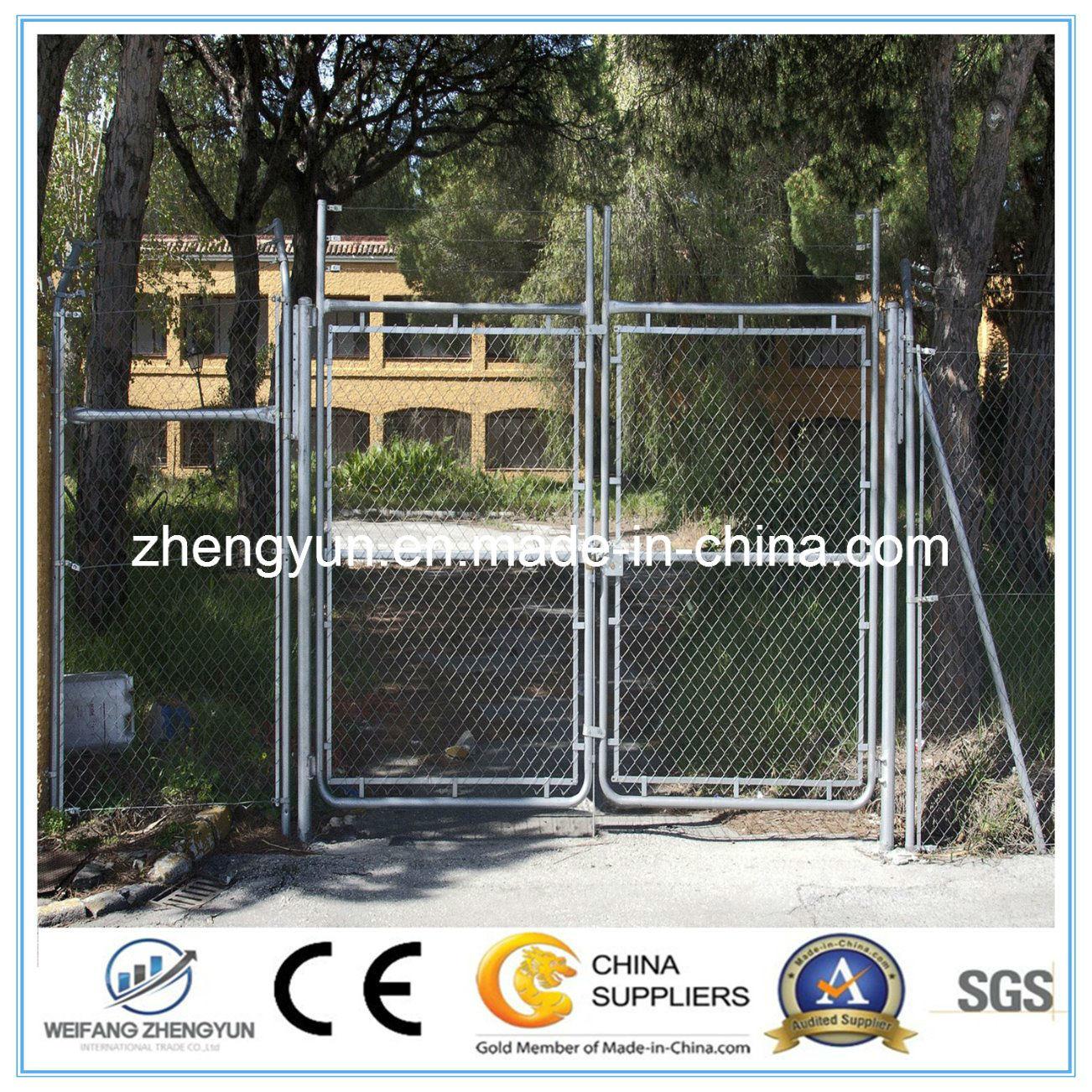 Round Tube Welded Wire Mesh Fence Garden Gate Door