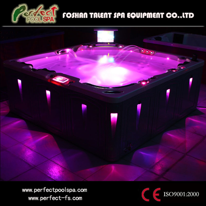 china ce luxurious outdoor massage jacuzzi hot tub spa with led light cleopatra photos. Black Bedroom Furniture Sets. Home Design Ideas