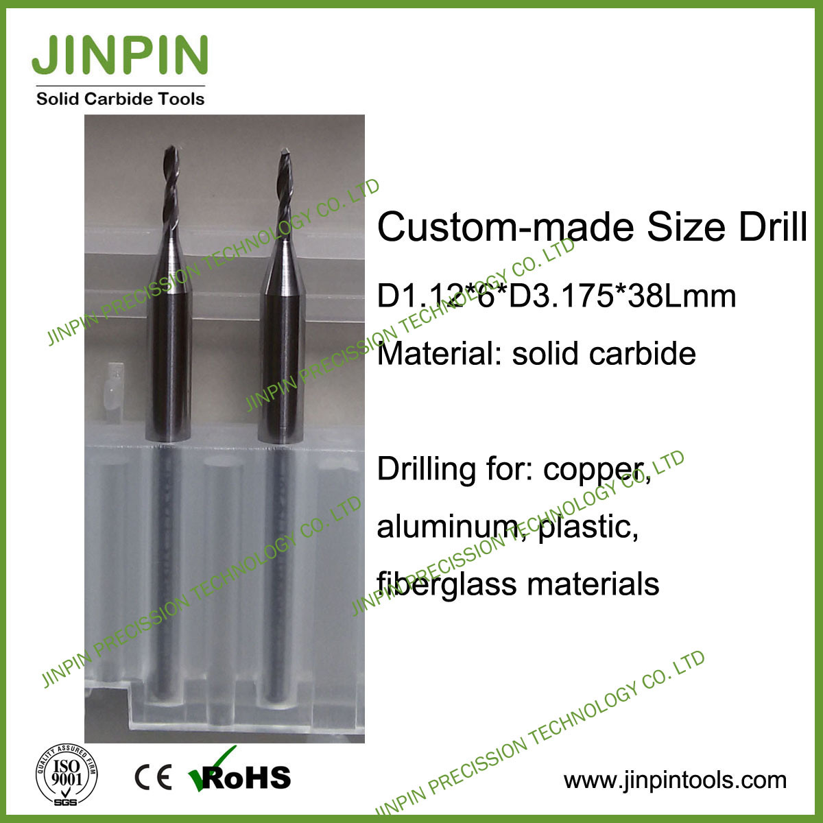 Custom-Made Size Drill Bit for Copper