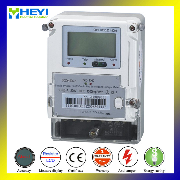 Auto Cut off Power Prepaid Electricity Meter with Smart Card