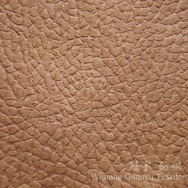 Compound Microfiber Suede Leather Fabric with Polar Fleece Backing