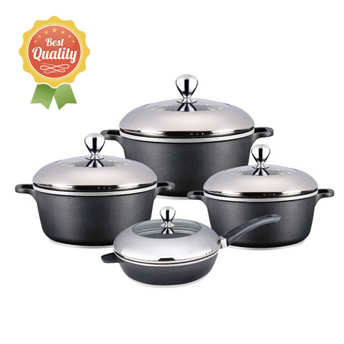 8PCS Die-Casting Aluminum Cookware Set Pot Set