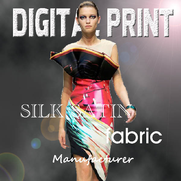 Digital Printed Satin Fabric