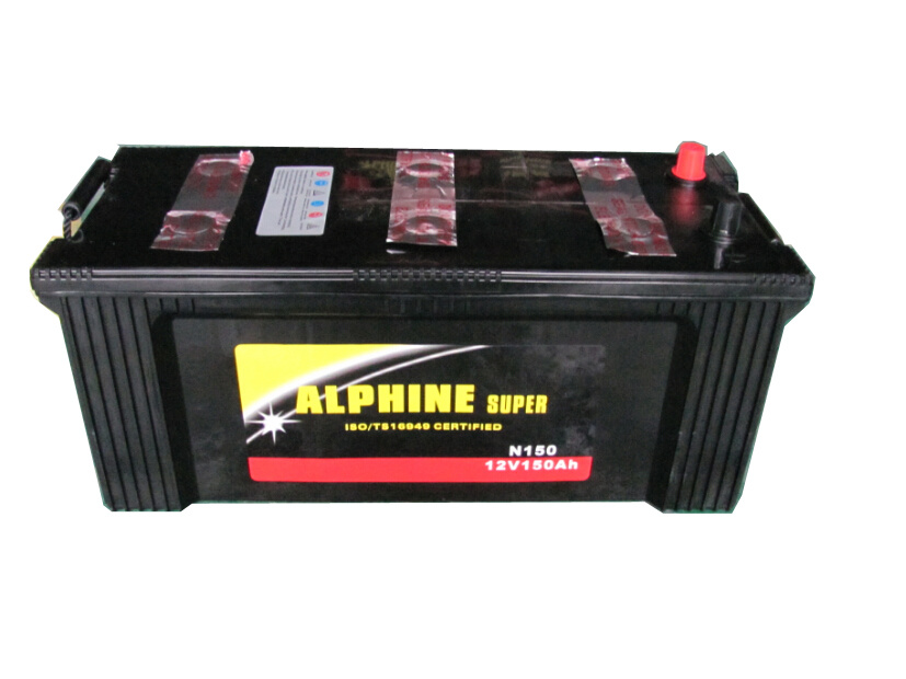 Dry Charged Car Battery/ N150 12V150ah Black Dry Charged Car Battery