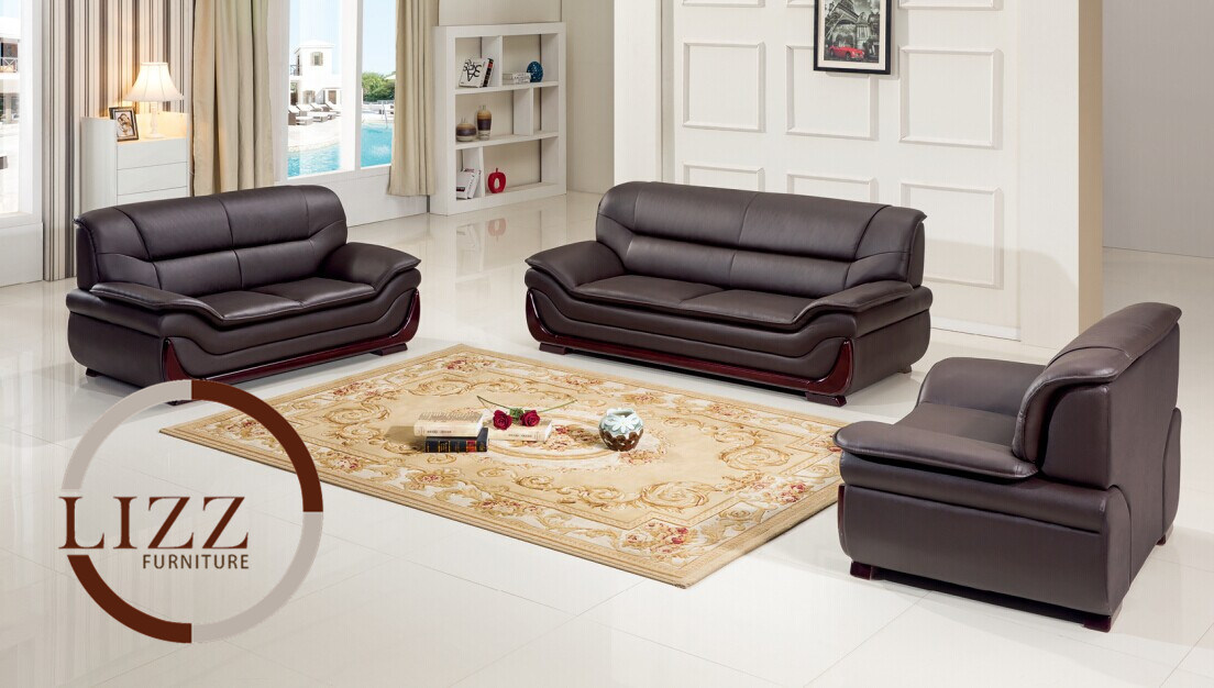 China New Design Furniture Office Leather Sofa Set Photos