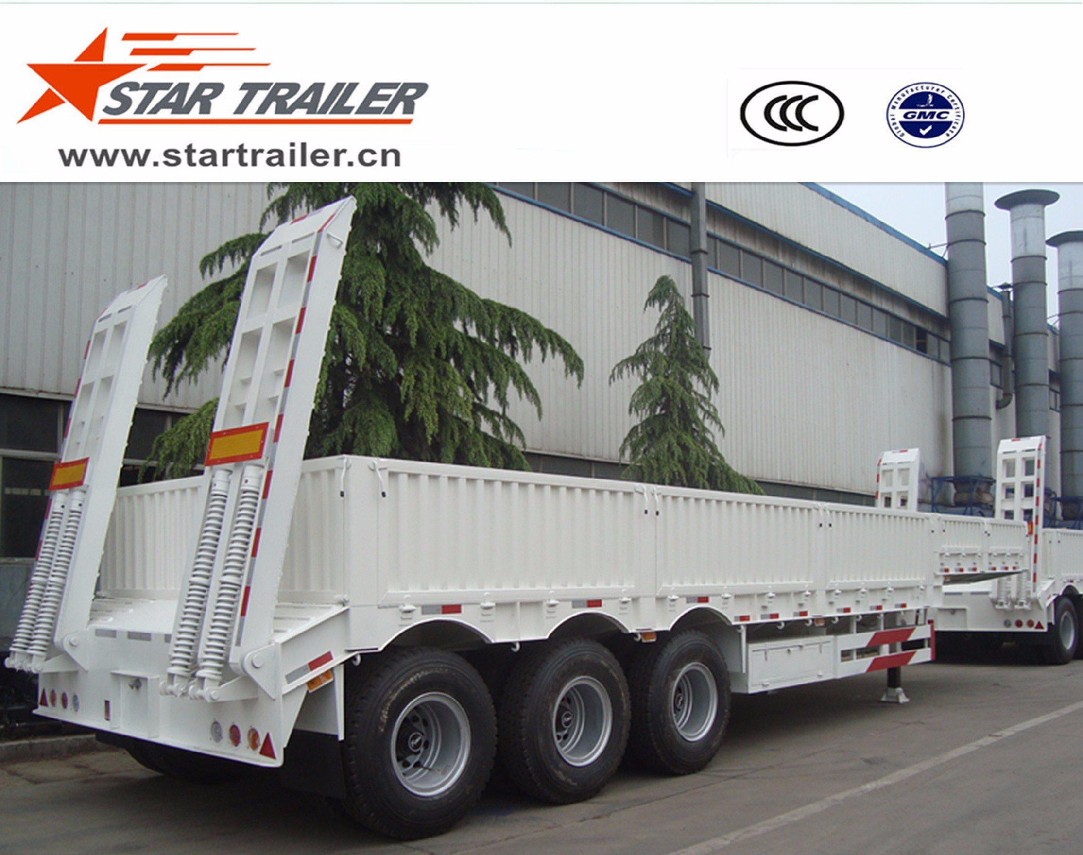 3 Axles Heavy Equipment Transport Low Bed Trailer