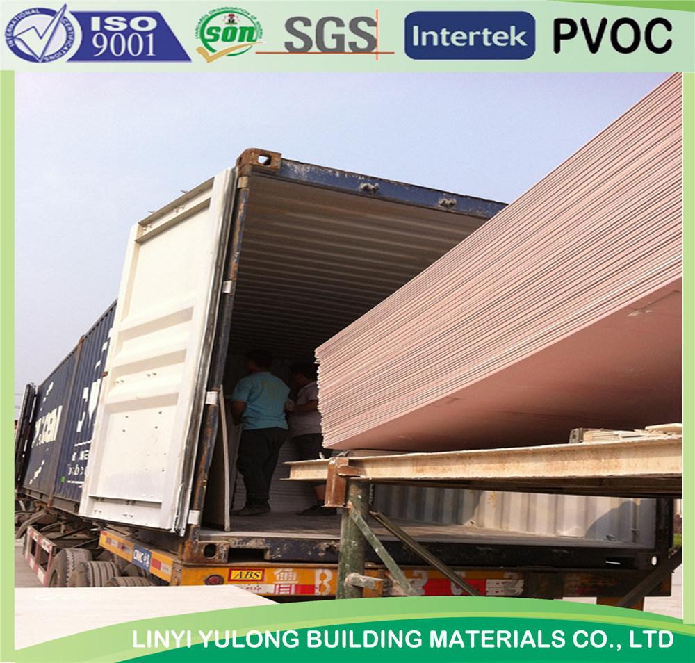 Fire Proof Gypsum Board/Plaster Board/Drywll Board with Competitive Price
