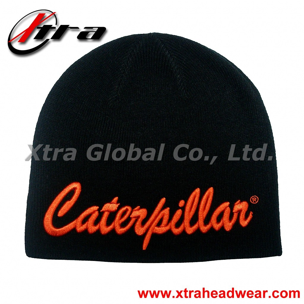 3D Embroidery Beanie Hat (XT-W013)