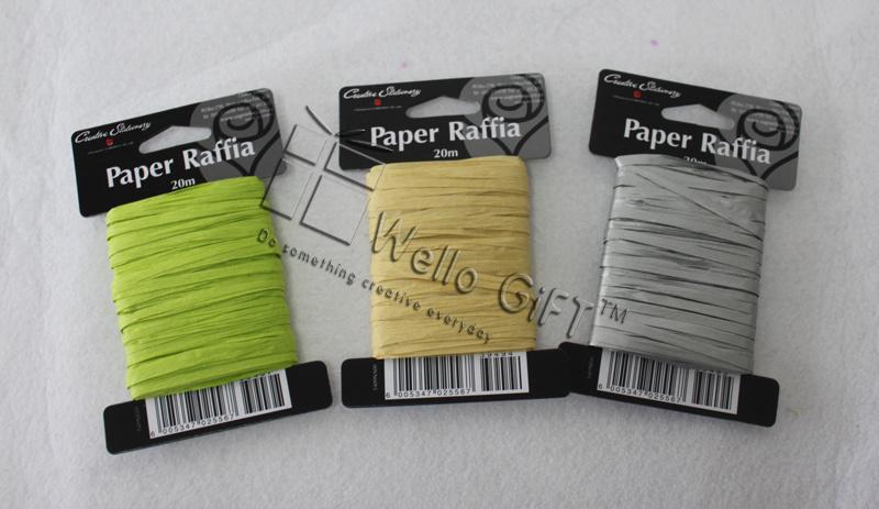 Natural Paper Raffia Ribbon Roll Wholesale