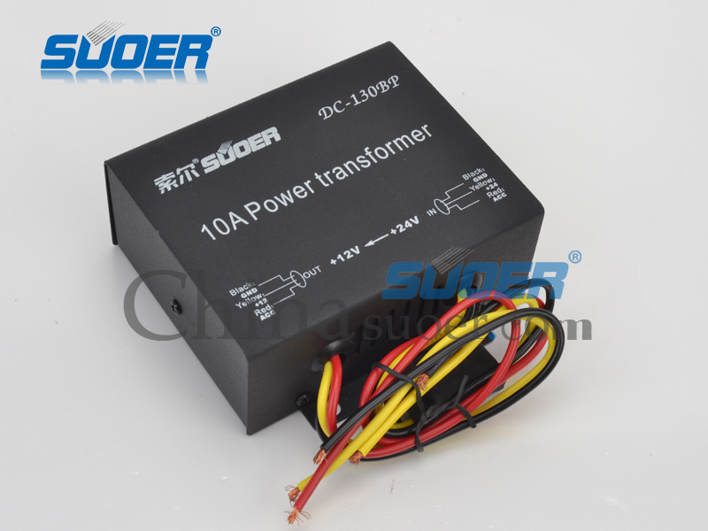Suoer 10A DC 24V to 12V Car Power Transformer (DC-130BP)