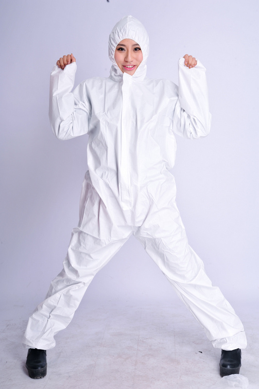 Disposable Microporous Coverall with SGS Certificate, White Non-Woven Coverall