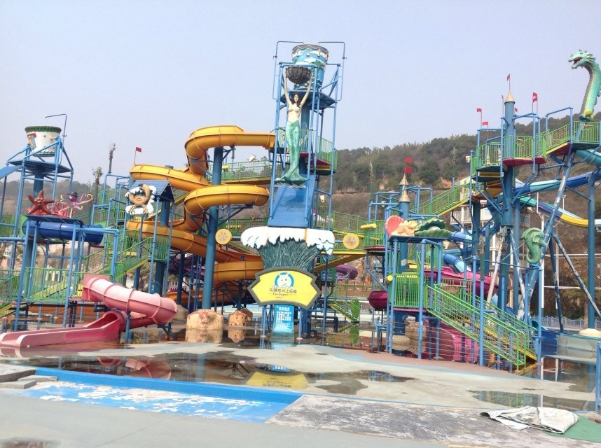 Medium Water House, Fiberglass Water Playground for Adult and Kids