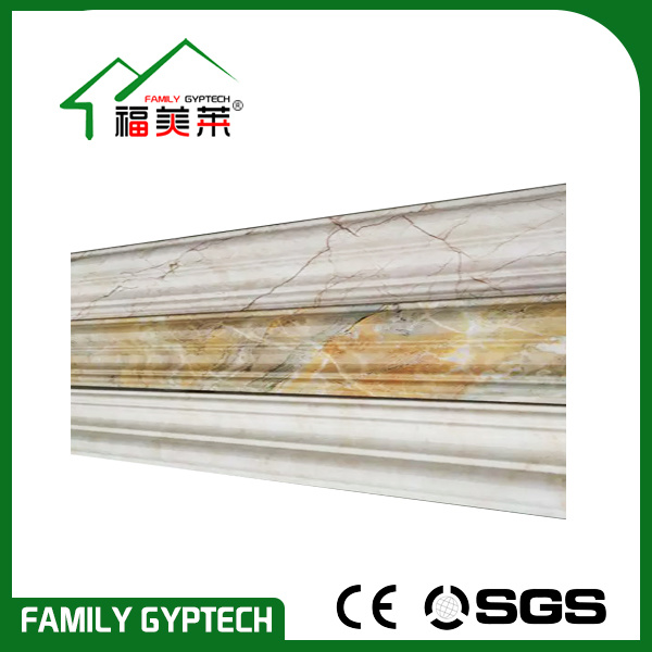 Water-Proof PVC Marble Cornice for Interior Ceiling