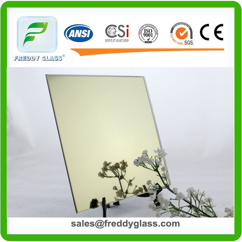 1.5mm-6mm Golden Bronze Aluminum Colored Mirror