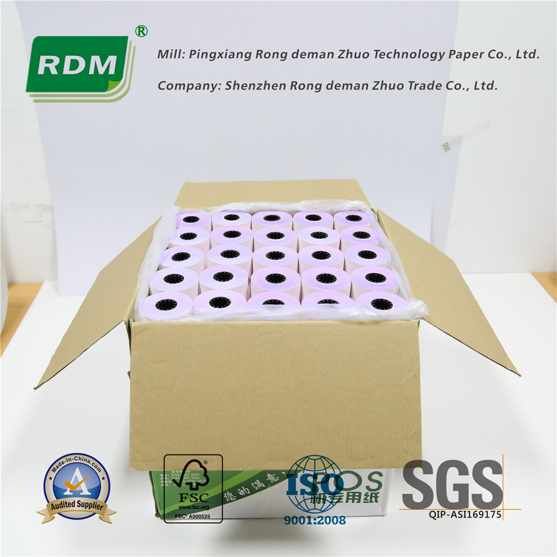 3 Ply Carbonless Paper Roll for DOT-Matrix Printers