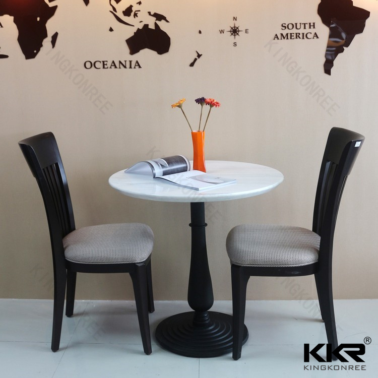 Wholesale Furniture Custom Made Solid Surface Restaurant Dining Table (170929)
