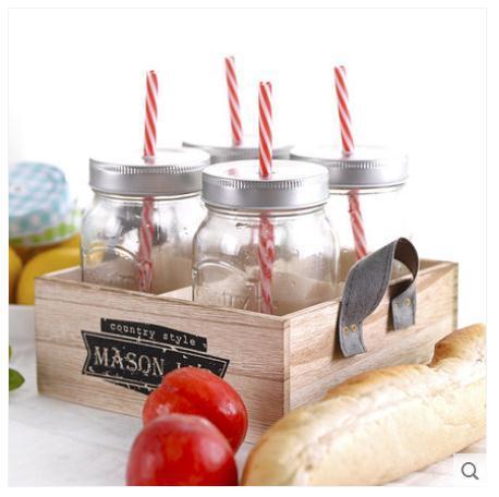 Mason Jar Glass Jam Jar with Handle New Design