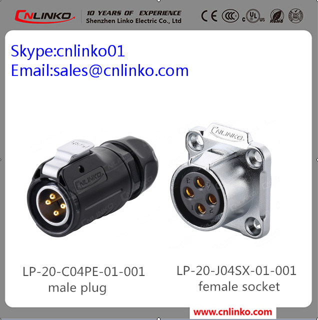 Factory Price IP67 Male Female Waterproof Cable Connector Plug
