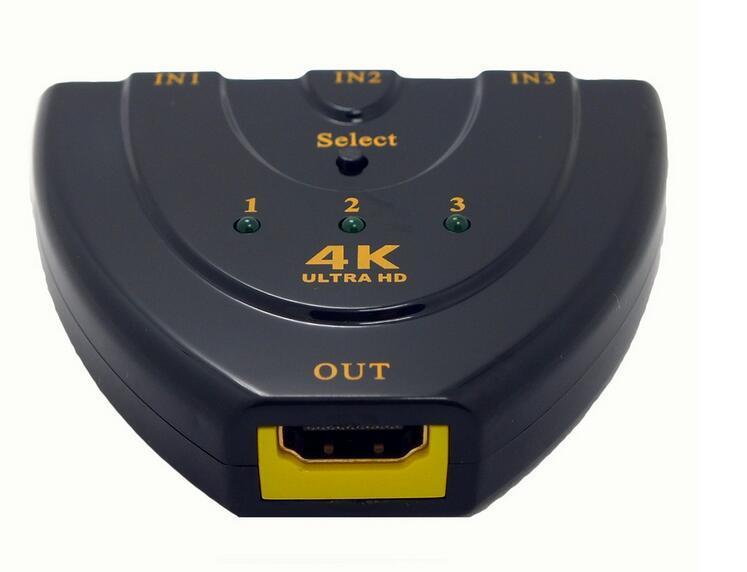 4k*2k 3D Mini 3 Port HDMI Switch