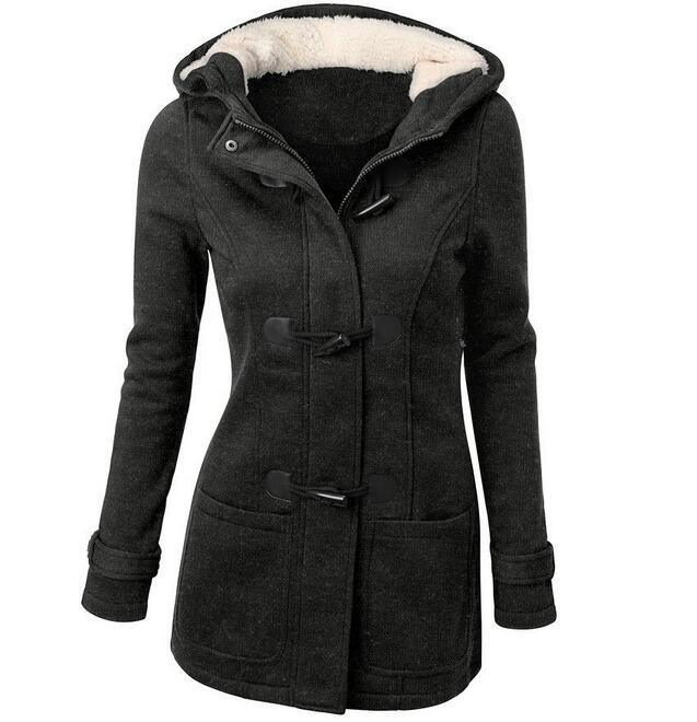 European Hot Selling Ladies Hooded Cotton Sweater Jacket