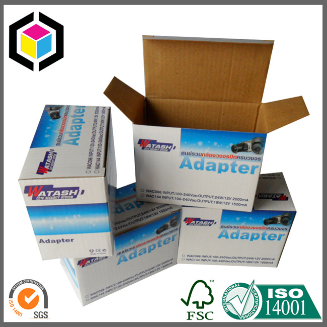 Large Self Locking Bottom Color Print Corrugated Carton Box