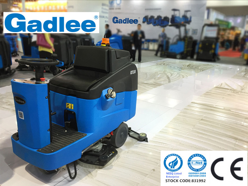 Gadlee Industrial and Commercial Eco Low-Noise Automatic Ce Ride-on Cleaning Machine Scrubber Dryer