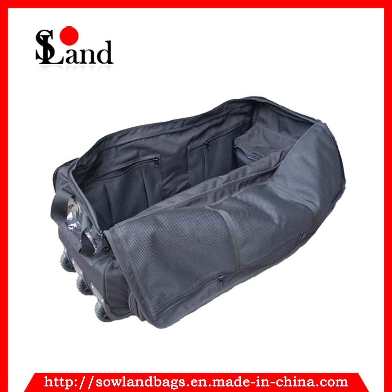 Black Military Navy Trolley Tool Luggage Bag
