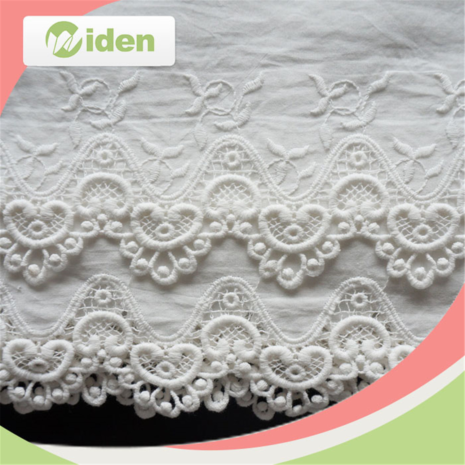 Cotton White African Swiss Chemical Embroidery Lace Trim