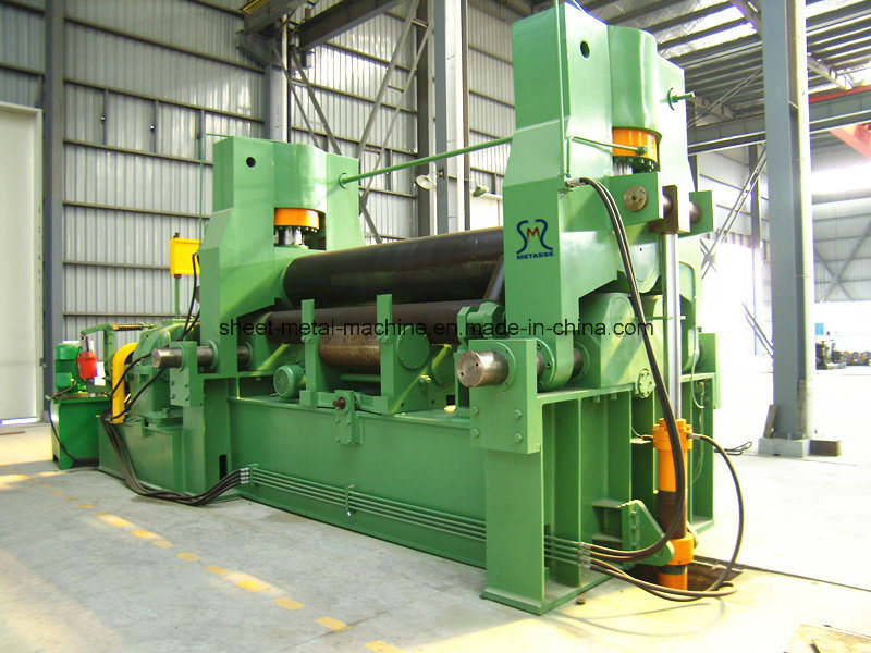 Steel Plate Roll Bending Machine with Pinch