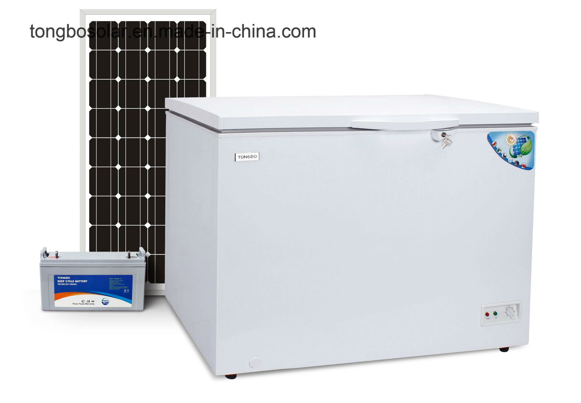 DC 12V 24V Solar Freezer Commercial Chest Freezer 282L