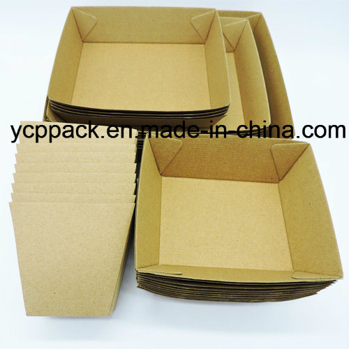 Disposable Food Packaging Corrugated Paper Tray