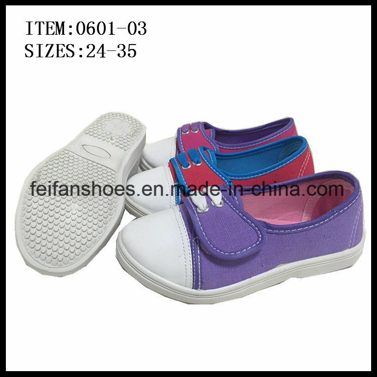 Children Canvas Footwear Shoes Outdoor Casual Shoes (0601-03)