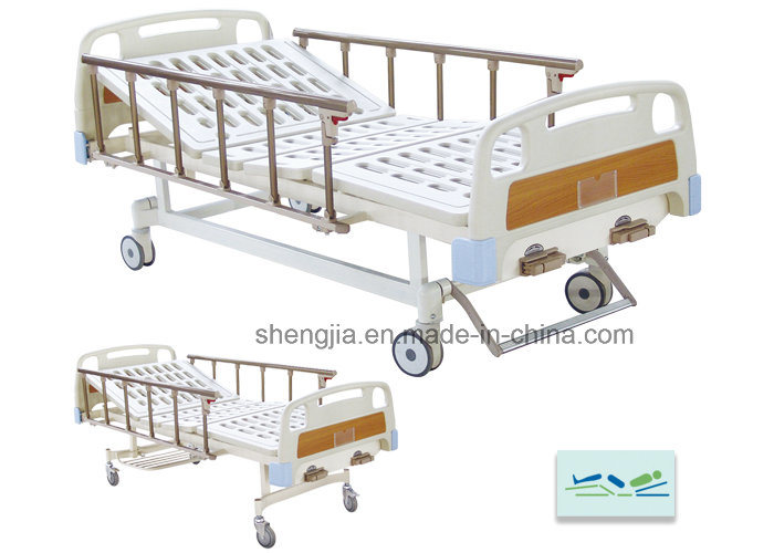 Sjb203mc Luxurious Hospital Bed with Double Revolving Levers