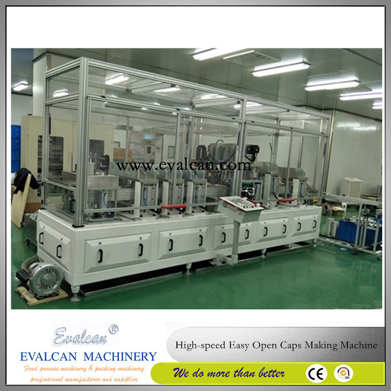Safety Open Meat, Fish Tin Cap Making Machine