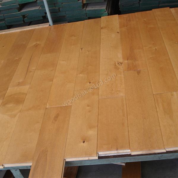 Solid Hardwood Flooring Birch Handscraped Wood Flooring