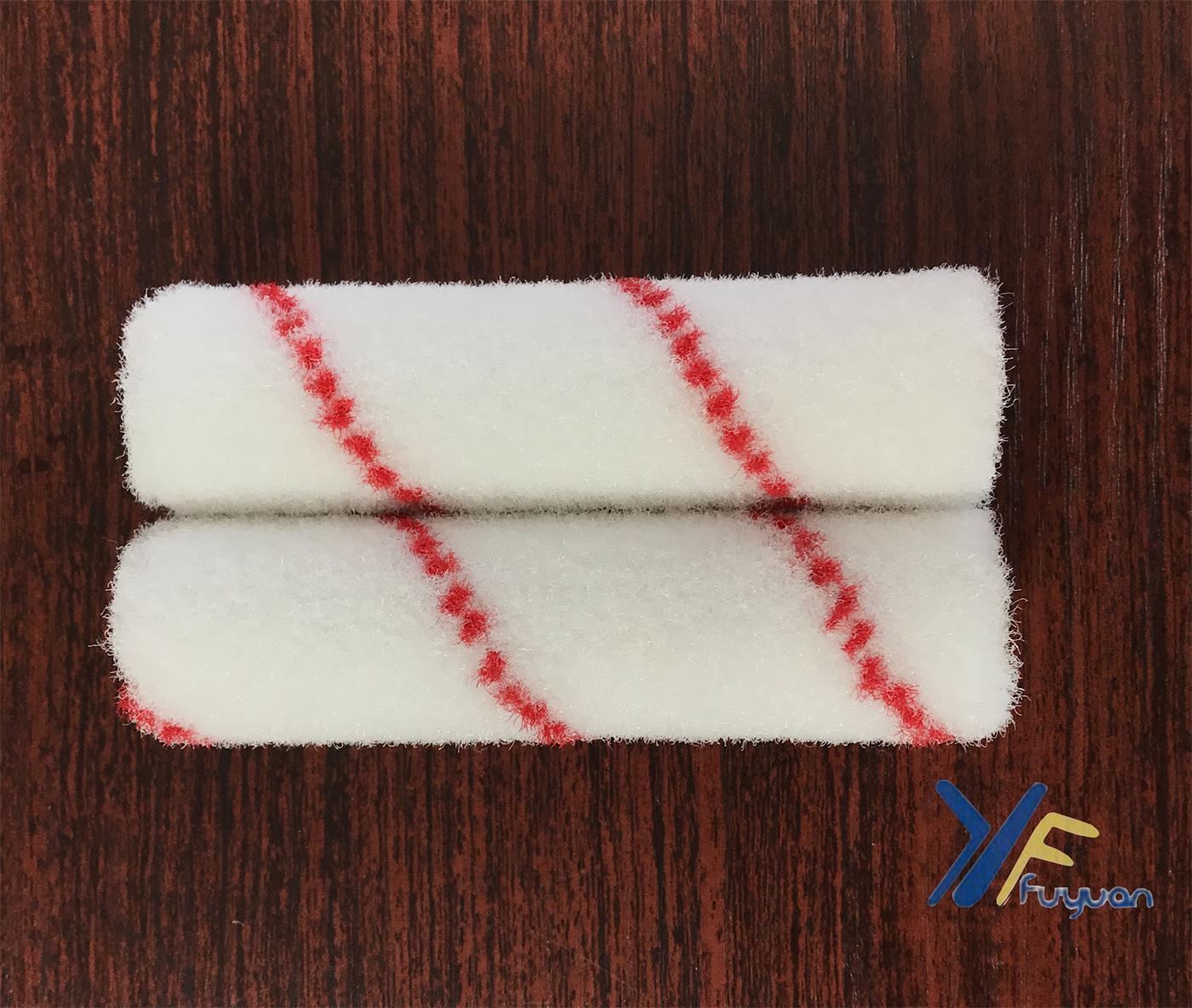 4′′ Nylon Mini Paint Roller Red Stripe