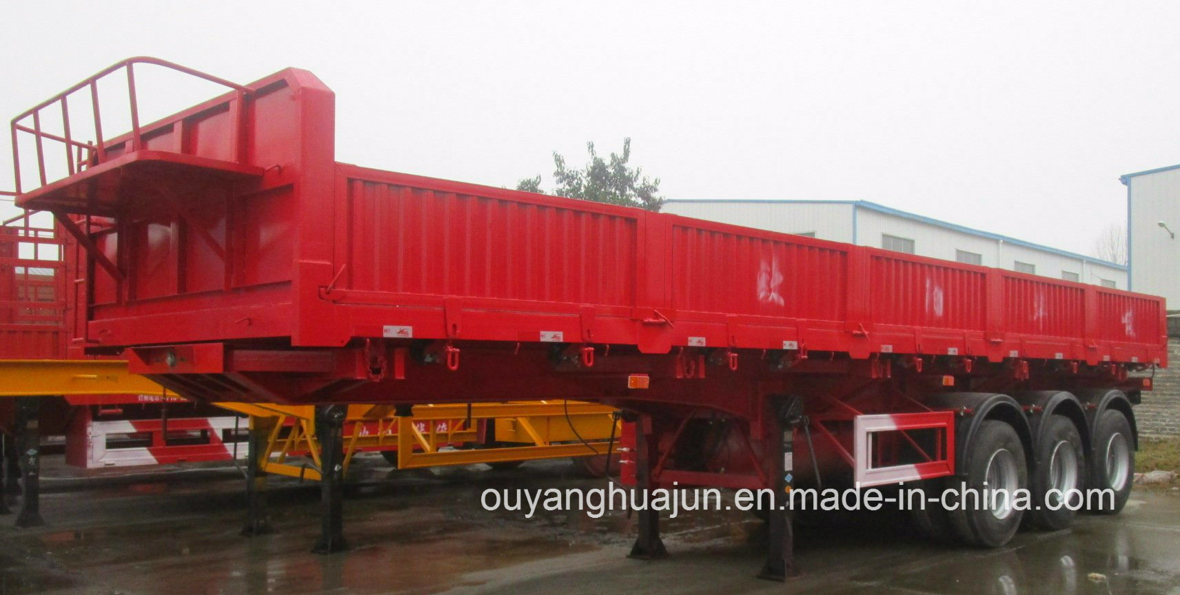Low Bed Rear Self Dump Semitrailer