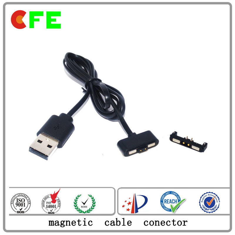 2pin Magnetic Charging Connector with USB Magnetic Cable Connector
