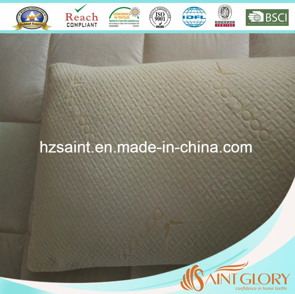 Saint Glory Durable Bamboo Shell with Zipper Memory Foam Pillow