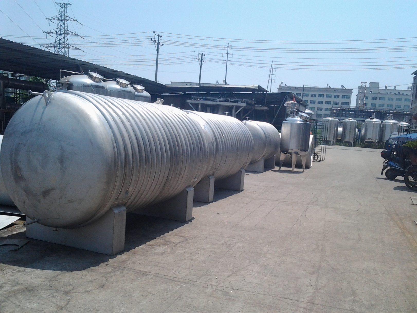 10m3 Stainless Steel Horizontal Storage Tank