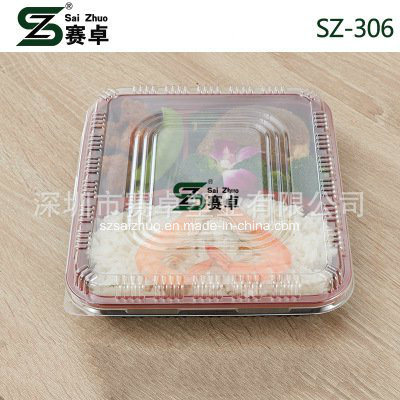 800ml Thicken 3 Compartment Disposable Plastic Food Box (SZ-306)