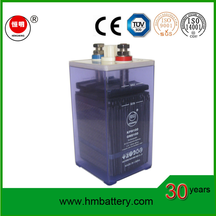Nickel-Cadmium Rechargeble Batteries 100ah for Sale